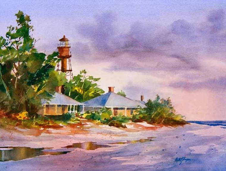 Sanibel Lighthouse (wood panel)