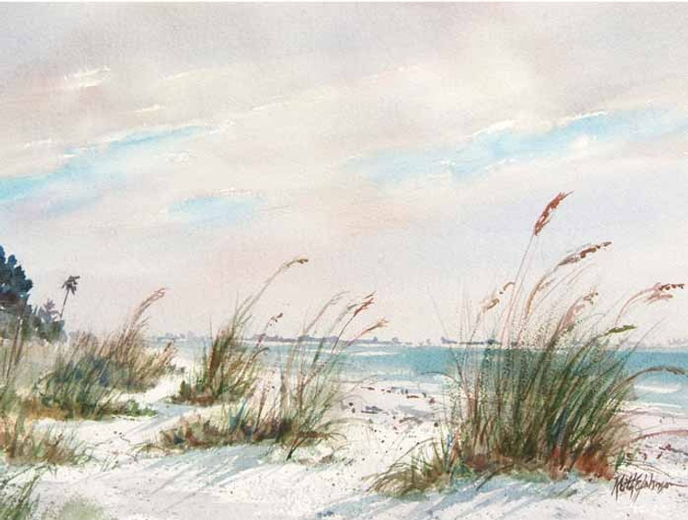 Beach Grass (wood panel)