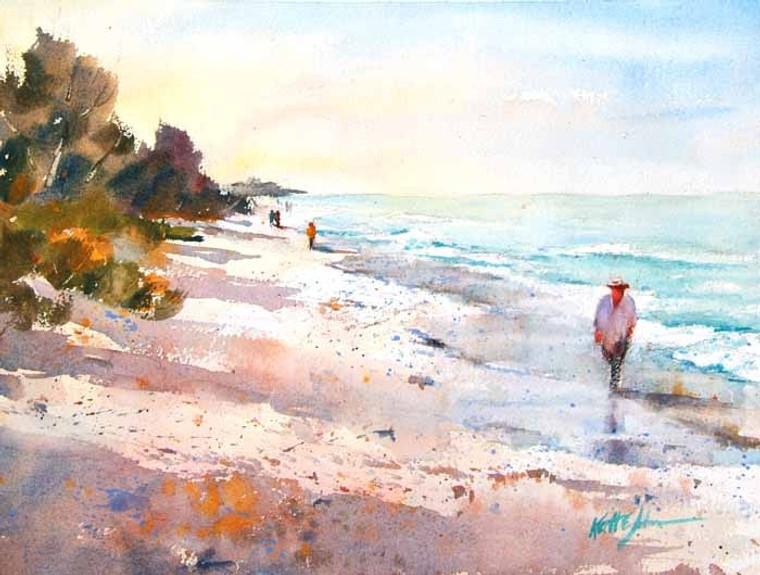 Beach Colors (wood panel)
