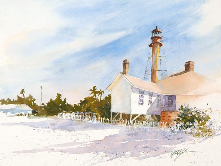 Sanibel Lighthouse Vignette
