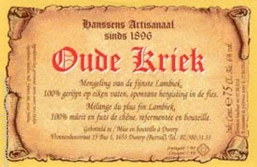 Hanssens Oude Kriek 375ml, 11.9oz bottle