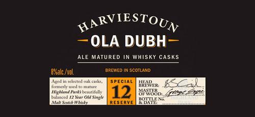 Harviestoun Ola Dubh 12, 11.2oz bottle