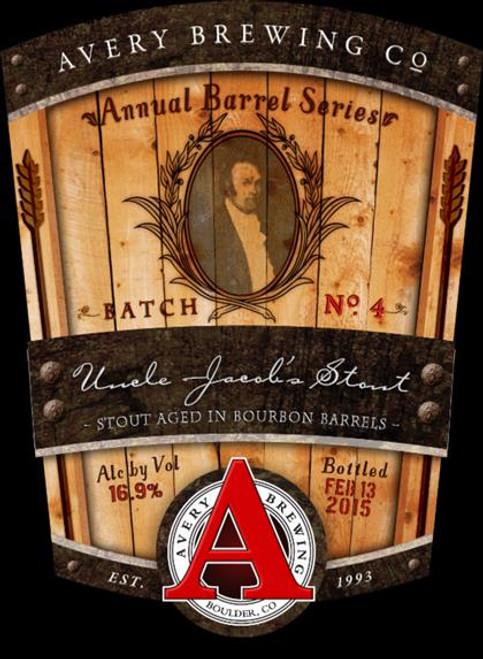 Avery Uncle Jacob's Stout, 12oz bottle