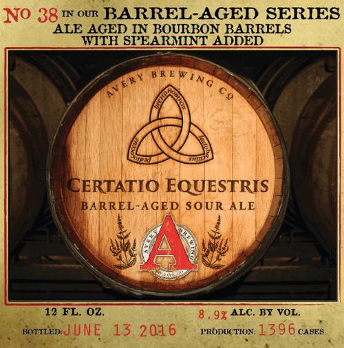 Avery Certatio Equestris, 12oz bottle