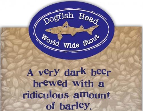 Dogfish World Wide Stout, 12oz bottle