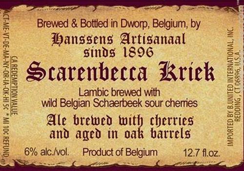 Hanssens Scarenbecca Kriek, 375ml bottle