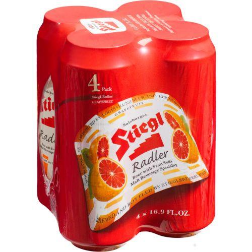 Stiegl Grapefruit Radler, 4 pack 16.9oz cans