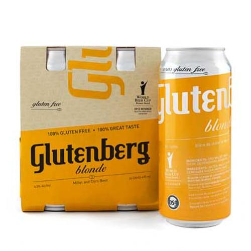 Glutenberg Blonde, 4 pack 16oz cans