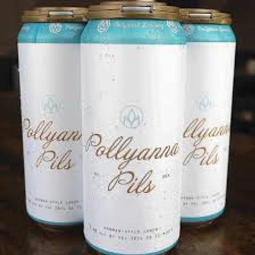 Pollyanna Pils, 4 pack 16oz cans