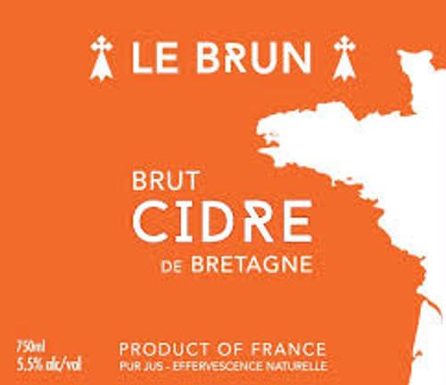 Le Brun Brut Cidre, 750ml bottle