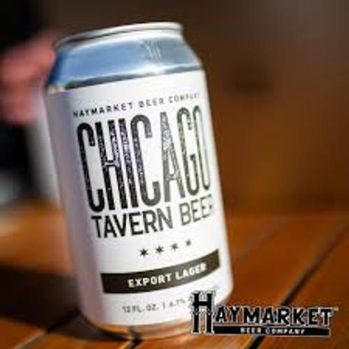 Haymarket Chicago Tavern Beer, 6 pack 12oz cans