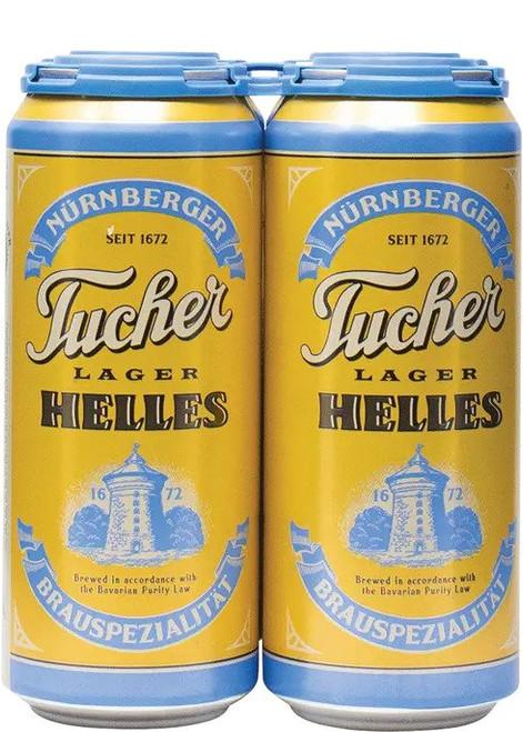 Tucher Helles Lager, 4 pack 16oz cans