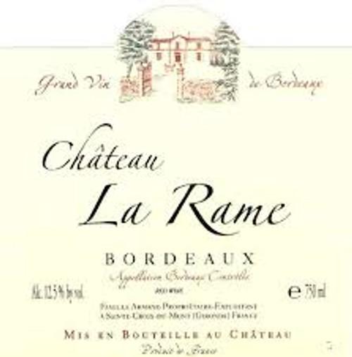 Chateau La Rame Bordeaux Rouge, 750ml bottle