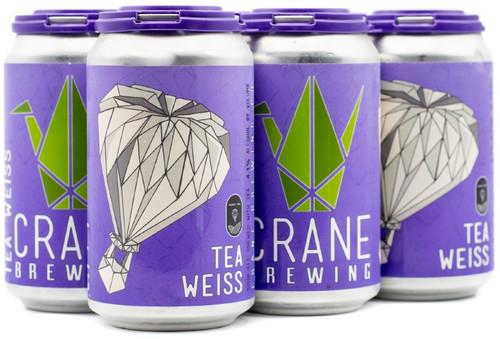 Crane Tea Weiss, 6 pack 12oz cans
