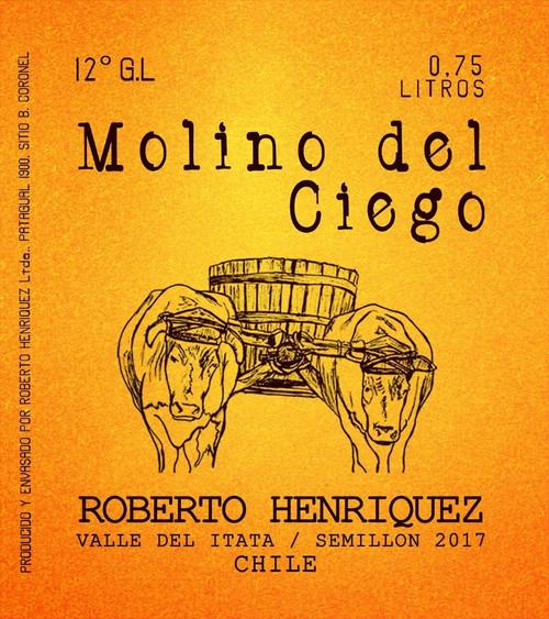 Roberto Henriquez Molino, 750ml bottle