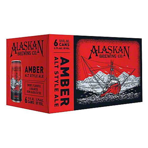 Alaskan Amber Alt Style, 6 pack 12oz cans