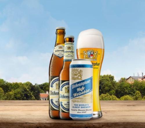 Weihenstephaner Hefe Weissbier, 4 pack 16.9oz cans