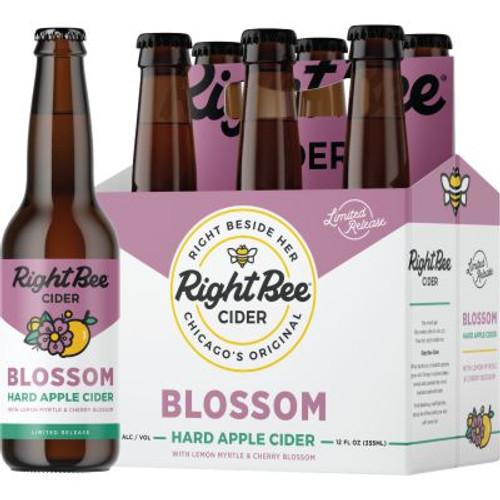 Right Bee Cider Blossom, 6 pack 12oz bottles