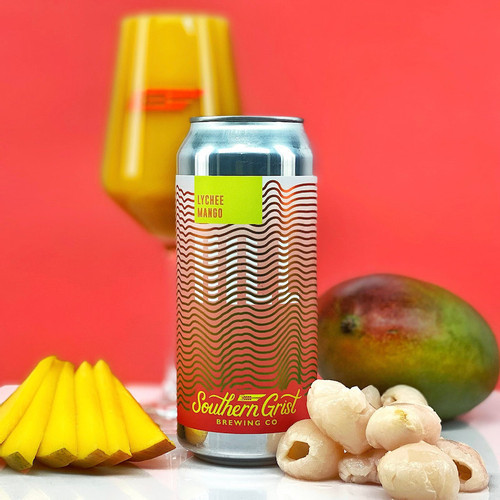 Southern Grist Lychee Mango, 4 pack 16oz cans