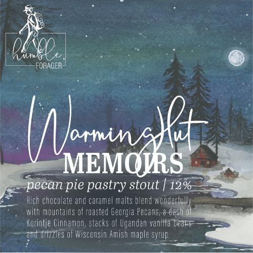 Humble Warming Hut Memoirs, 4 pack 16oz cans