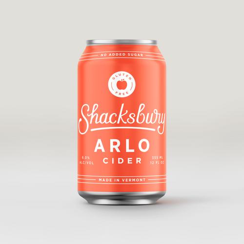 Shacksbury Arlo, 4 pack 12oz cans