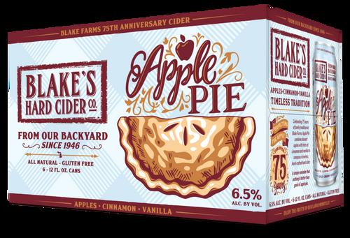 Blake's Hard Cider Apple Pie, 6 pack 12oz cans