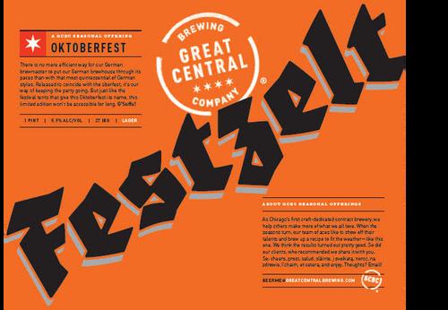 Great Central Festzelt, 4 pack 16oz cans