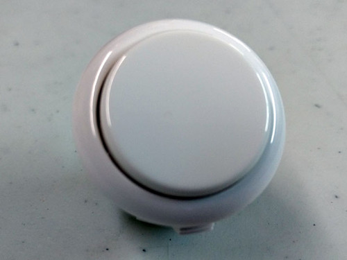 Sanwa Denshi OBSF-30 Solid Colour Snap-In 30mm Pushbutton - White