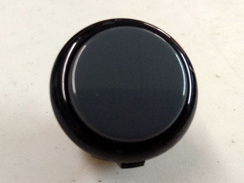 Sanwa Denshi OBSF-30 Solid Colour Snap-In 30mm Pushbutton - Gray Dark Hai