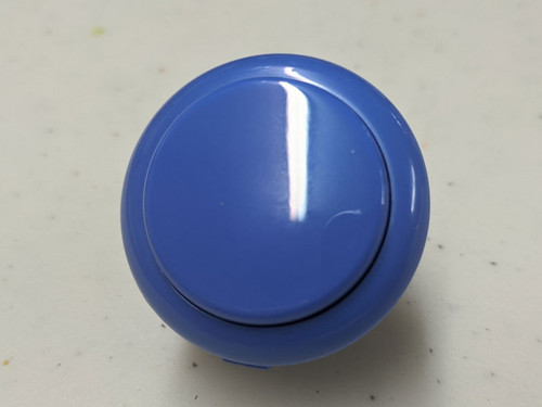 Sanwa Denshi OBSF-30 Solid Colour Snap-In 30mm Pushbutton - Dark Blue