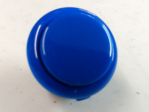 Sanwa Denshi OBSF-30 Solid Colour Snap-In 30mm Pushbutton - Royal Blue