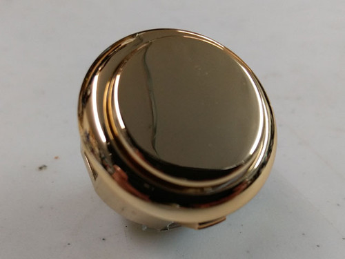 Sanwa Denshi OBSJ-30 Metallic Finish Snap-In 30mm Pushbutton - Gold