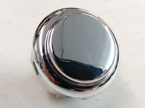 Sanwa Denshi OBSJ-30 Metallic Finish Snap-In 30mm Pushbutton - Silver