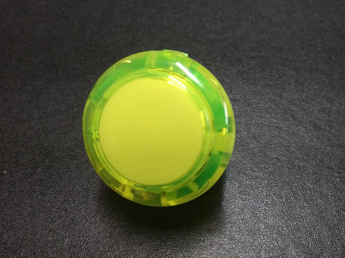 Sanwa Denshi OBSC-30 Translucent Clear 30mm Snap-in Push Button - Yellow