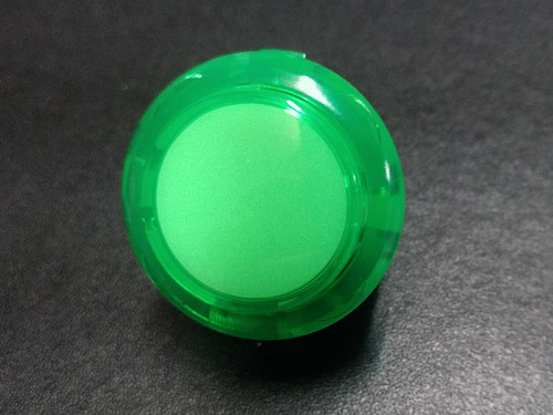 Sanwa Denshi OBSC-30 Translucent Clear 30mm Snap-in Push Button - Green