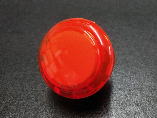 Sanwa Denshi OBSC-30 Translucent Clear 30mm Snap-in Push Button - Red