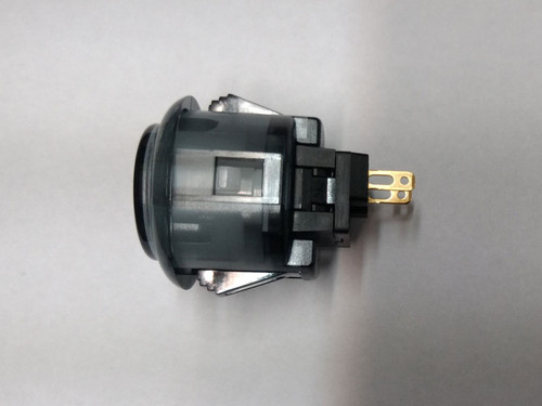 Sanwa Denshi OBSC-24 Translucent Clear 24mm Snap-in Push Button - Smoke