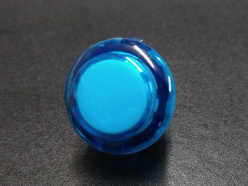 Sanwa Denshi OBSC-24 Translucent Clear 24mm Snap-in Push Button - Blue