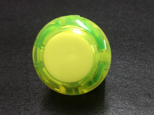 Sanwa Denshi OBSC-24 Translucent Clear 24mm Snap-in Push Button - Yellow
