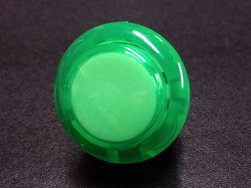 Sanwa Denshi OBSC-24 Translucent Clear 24mm Snap-in Push Button - Green