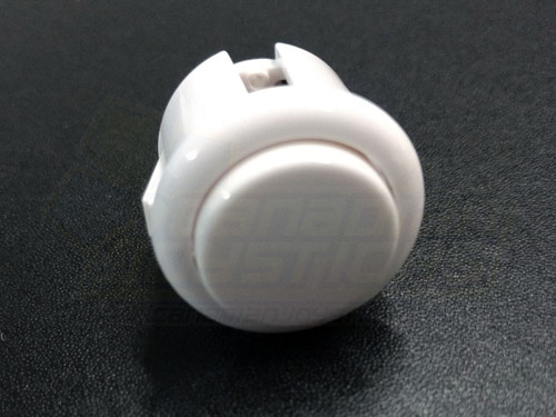 Qanba 24mm Solid Colour Snap-in Button - White