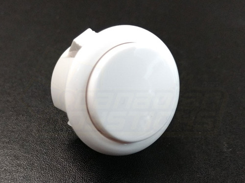 Qanba 30mm Solid Colour Snap-in Button - White