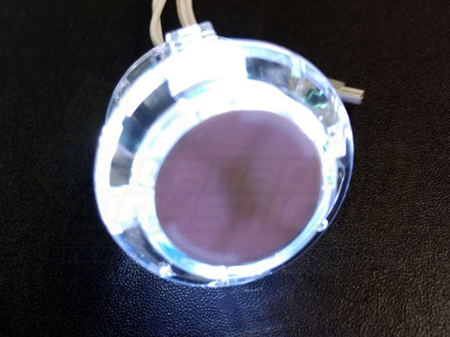 Qanba 30mm LED Button - Clear Body White LED