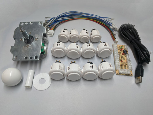 Arcade Fightstick Starter Kit - Qanba Parts Edition (White)