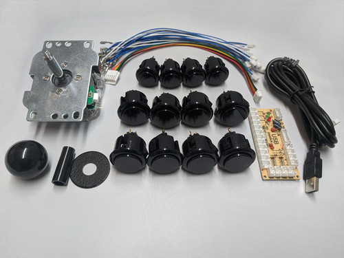 Arcade Fightstick Starter Kit - Qanba Parts Edition (Black)