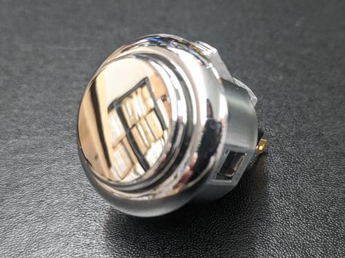 Sanwa Denshi OBSJ-24 Metallic Finish Snap-In 24mm Pushbutton - Silver