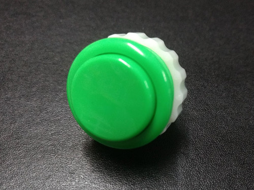 Seimitsu PS-14-DN Solid Colour 24mm Screw-In Pushbutton - Green