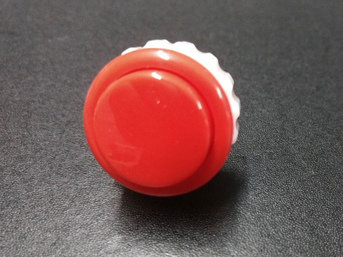 Seimitsu PS-14-DN Solid Colour 24mm Screw-In Pushbutton - Red