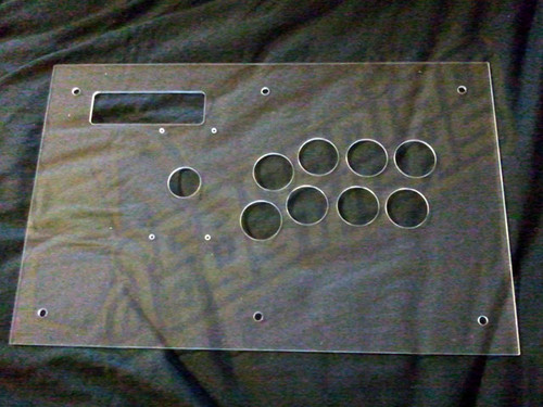 Plexiglass Full Size Top Panel Replacement for MadCatz Tournament Edition Joysticks
