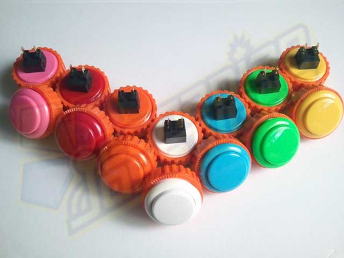 Sanwa Denshi OBSN-30 Solid Colour 30mm Screw-In Pushbutton